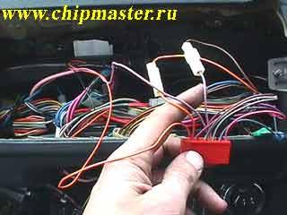 Подсоединение проводов ЭУР к красной колодке КП
